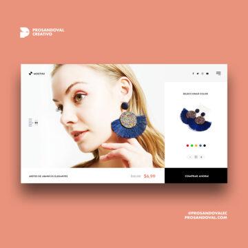 Diseño tienda online para bisutería Ecuador
