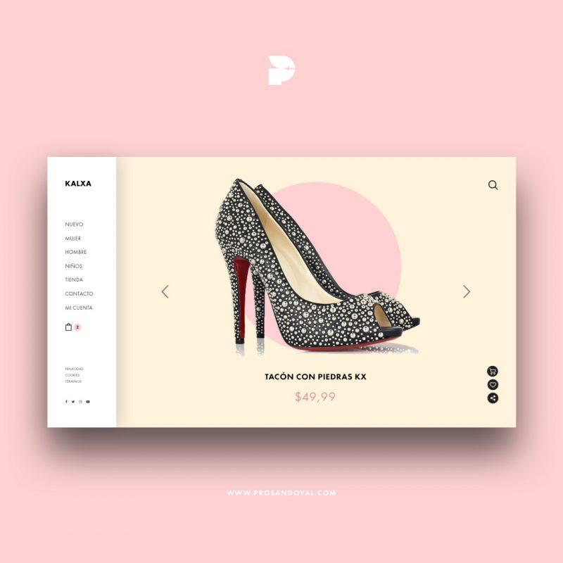 Diseño tienda online para calzado de mujer