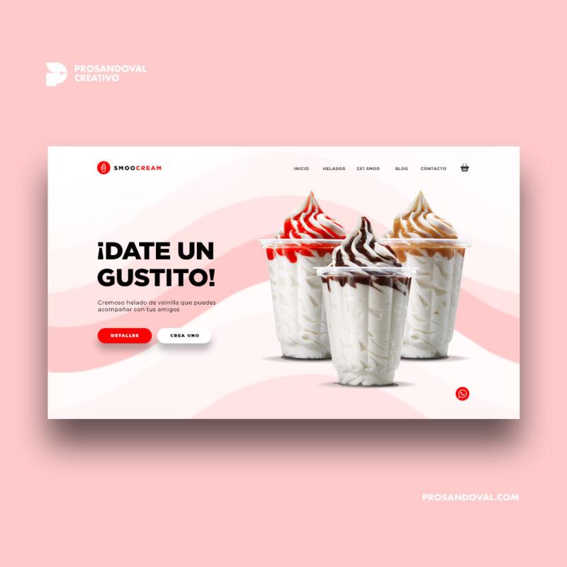 Diseño tienda online para heladerías