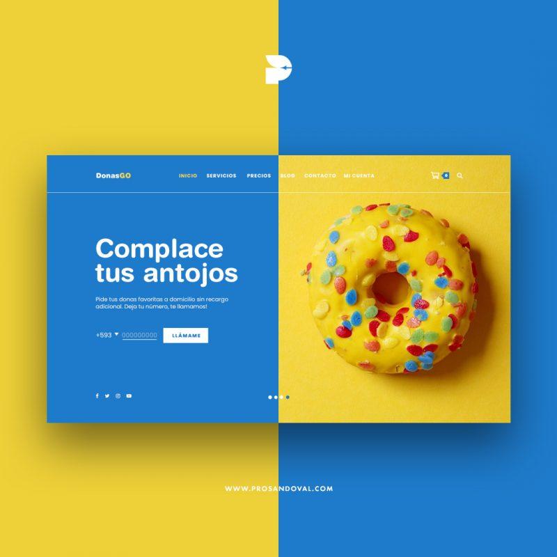 Diseño página web para envío a domicilio ecuador