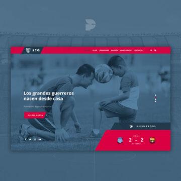 Diseño página web para club deportivo Scq