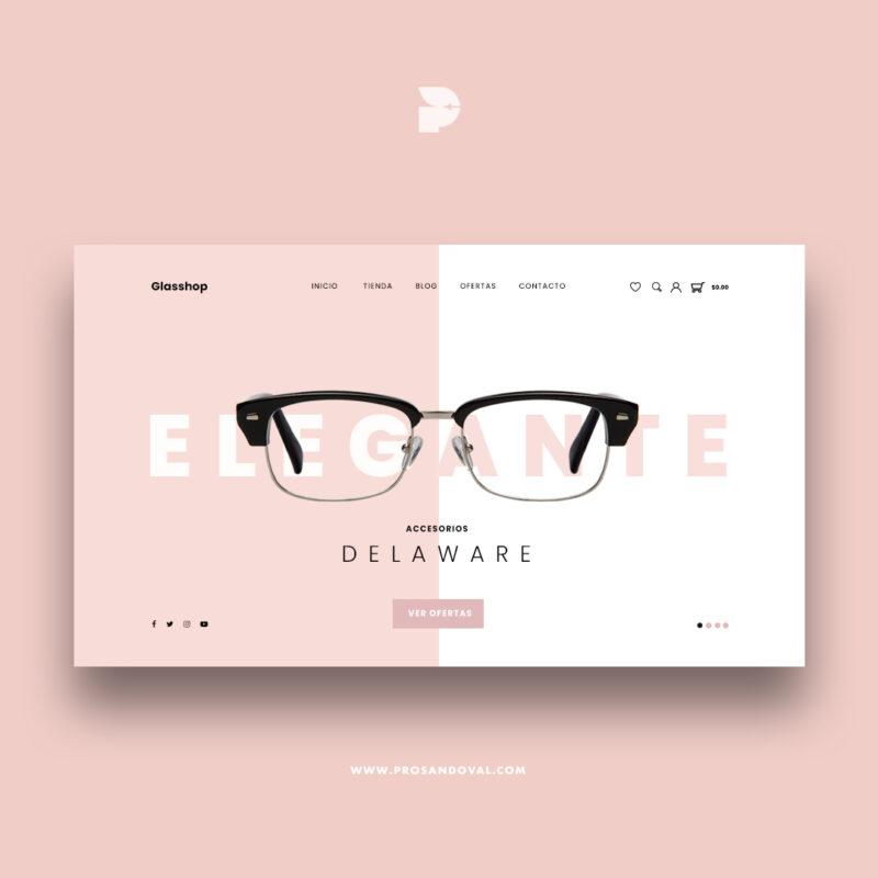 Diseño web tienda online para ópticas