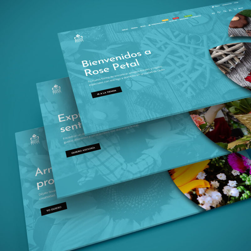 Página web envío de flores Rose Petal Ecuador