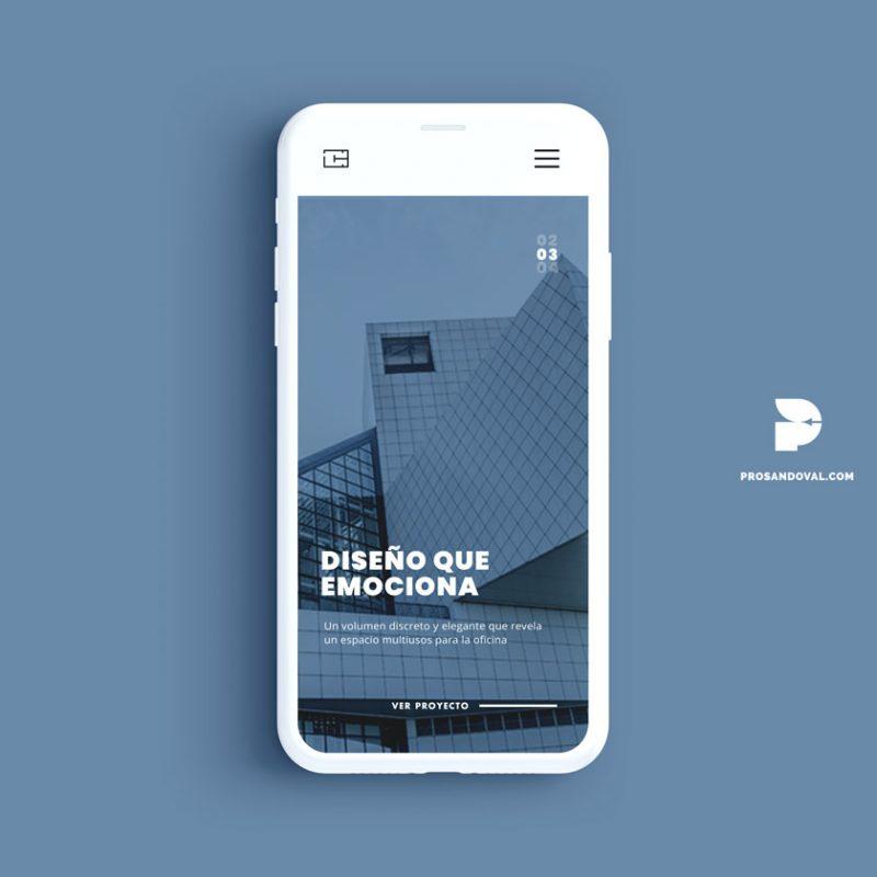 Diseño página web para Arquitectos metrum movil ecuador
